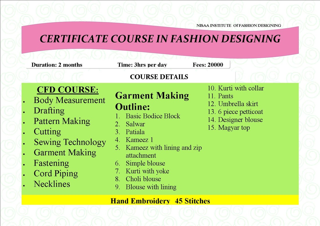 Two Month School Of Fashion Design Embroidery 9833881790